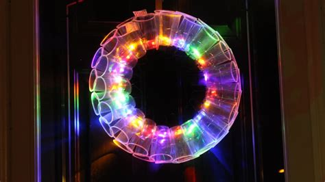diy plastic cup led wreath fun christmas projects youtube