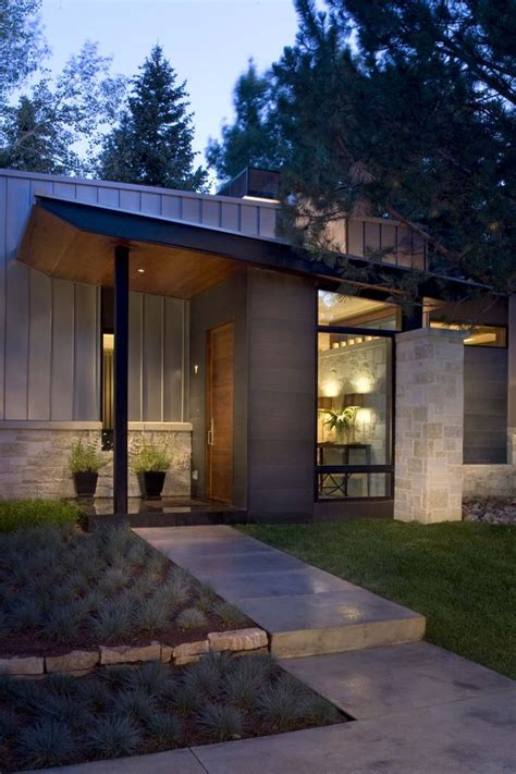Home Design Entrance Ideas by Contemporary Ranch House Remodel Front Entrance Ideas With