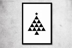 Tannenbaum Schwarz Weiß : print tannenbaum a4 o a3 schwarz wei von ohkimiko auf weihnachtskarte schwarz ~ Orissabook.com Haus und Dekorationen