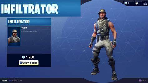 rare infiltrator character outfit skin  vbucks