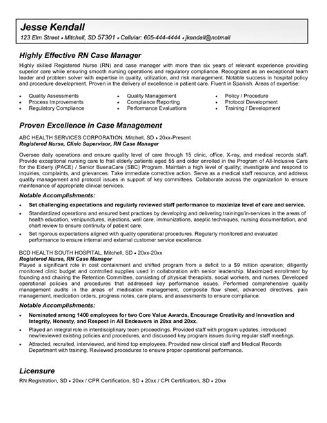 manager resume template sle exle