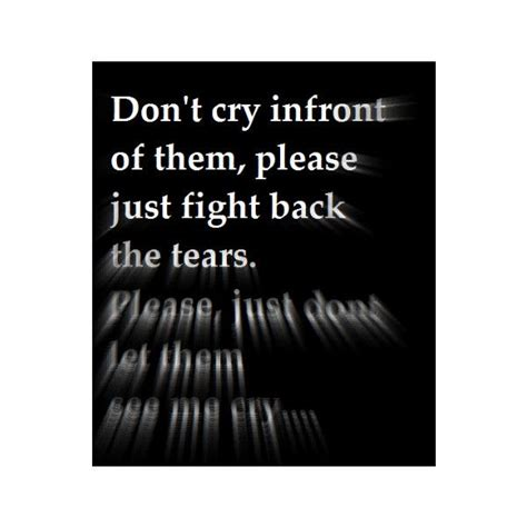 afraid  crying infront
