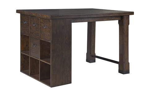 Magnussen Home Pine Hill Wood Counter Height Desk The