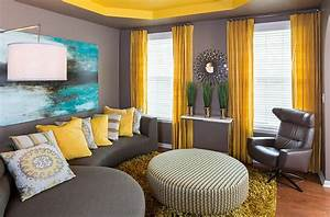 gray and yellow living rooms photos ideas and inspirations With what kind of paint to use on kitchen cabinets for peindre du papier peint