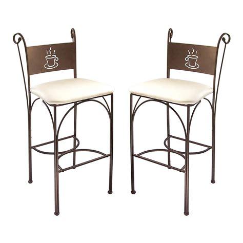 chaise haute en fer forg 233 hauteur 110 cm set de 2 pi 232 ces cappuccino port offert