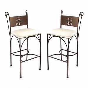Cuisine cappuccino chaises hautes en fer forgac cm parer for Petite cuisine équipée avec chaise fer forgà