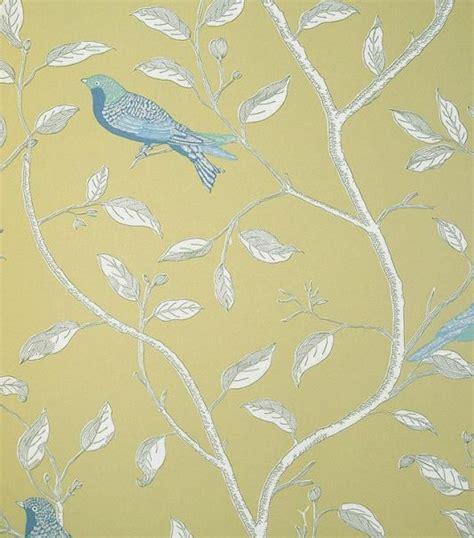 finches yellow wallpaper  sanderson   walls