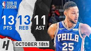 Ben Simmons Full Triple-Double Highlights vs Bulls 2018.10 ...