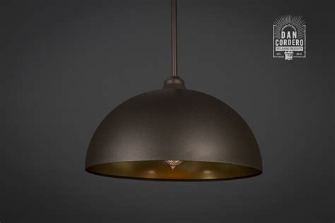 rubbed bronze gold dome edison bulb pendant light