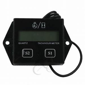 New Digital Tach Hour Meter Tachometer Gauge For 2 Stroke