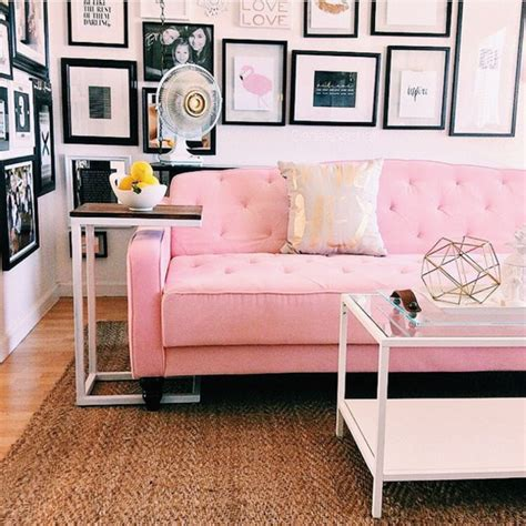 home accessory tumblr living room pink couch couch