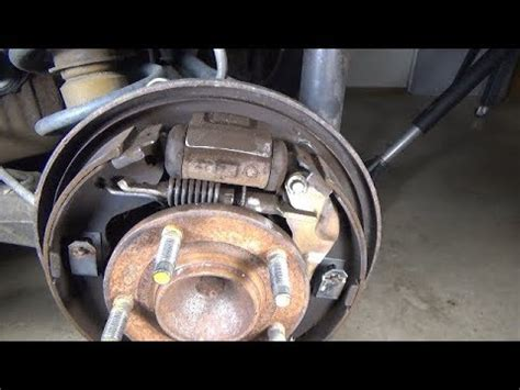 drum brake shoes replacement   ford escape youtube
