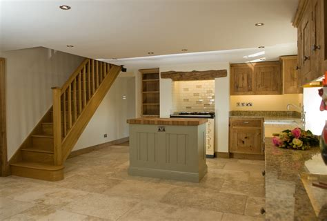 rustic oak  painted kitchen lovewood kitchens
