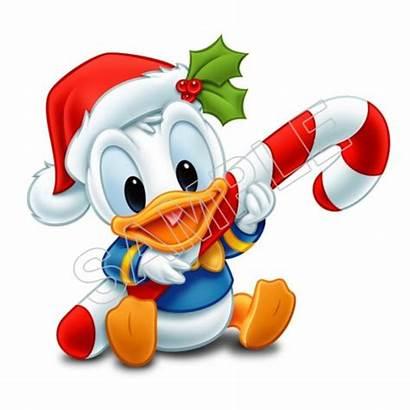 Duck Donald Christmas Transfer Iron Decal Shirt