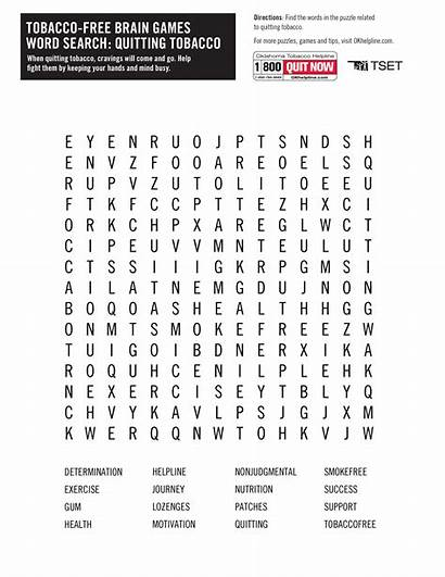 Word Searches Games Tset Tobacco Play Quitting