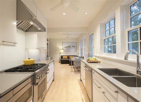 how to update a galley kitchen galley kitchen gets an update east of the river 8936