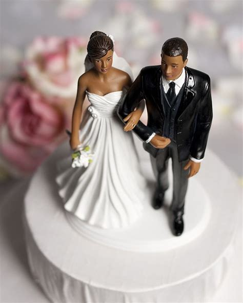 chic african american wedding couple wedding collectibles