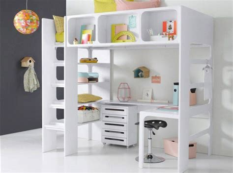 lit mezzanine avec bureau pour fille visuel 3