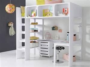 Lit Bureau Fille : lit mezzanine avec bureau pour fille visuel 3 ~ Teatrodelosmanantiales.com Idées de Décoration