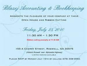 strawberry shortcake ribbon business grand opening invitations wording