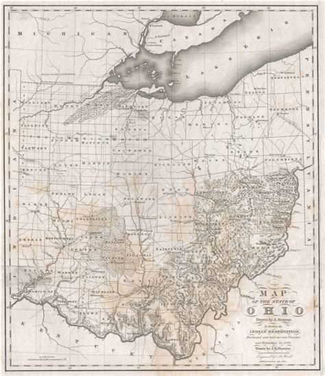 Map Of The State Of Ohio Drawn By A Bourne Including The