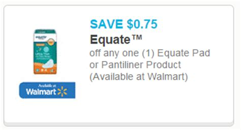 43209 Out Pads Coupons by Save On Equate Pantiliners Pads