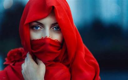 Face Eyes Cape Covering Profile Scarf Character
