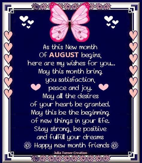 August Happy new month! | August birthday quotes, August ...