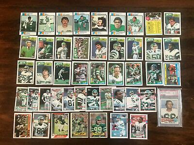511 Different New York Jets Football Cards - 1973 - 2002 ...