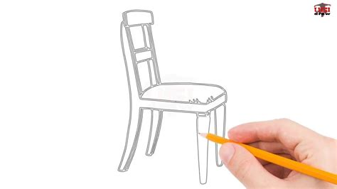 Tutorial, How To Draw A Chair Step By Step Easy For