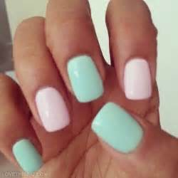 Pink and green pastel nails pictures photos images