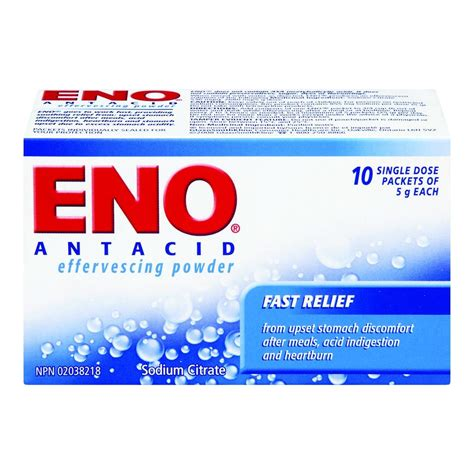 Buy ENO Antacid Effervescing Powder Fast Relief 5 g 10 Pack from Value Valet