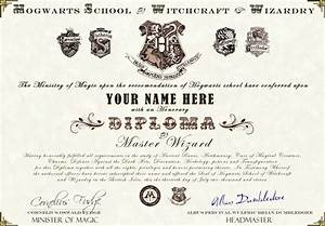 harry potter hogwarts diploma certificate ultra high With hogwarts certificate template