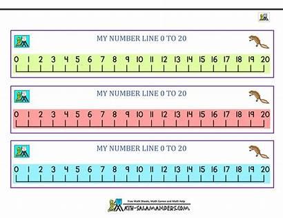 Number Line Kindergarten Math Printables Printable Lines