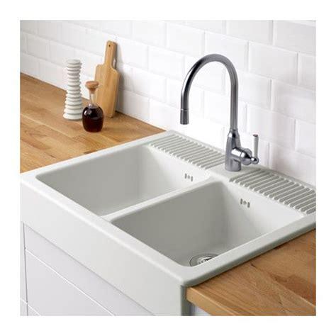 small ceramic sinks for kitchen domsj 214 fregadero de 2 senos ikea casa cocina 7999