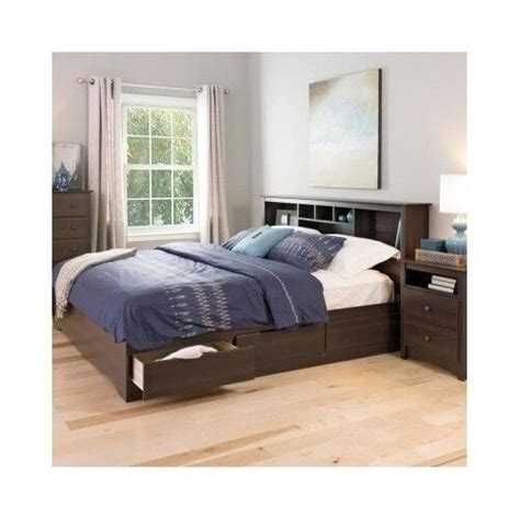 King Size Bed With Bookcase Headboard by Platform Storage Bed King Size Drawers Frame Bookcase