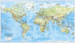 World Map with Scale