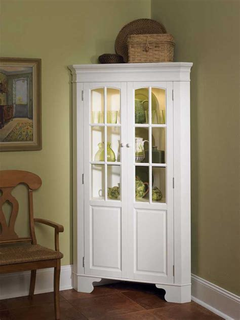 kitchen curio cabinets home styles corner curio cabinet with light white 88 1053
