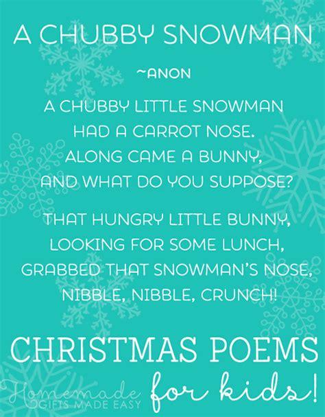 christmas poems  kids