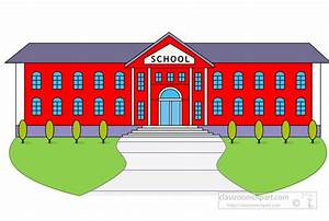 School Clipart - high-school-building - Classroom Clipart
