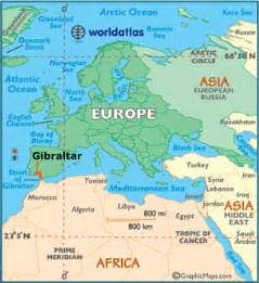Map of Gibraltar - World Atlas  Gibraltar