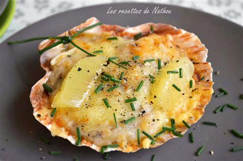 cuisine coquille st jacques coquilles st jacques gratin 233 es par ma cuisine au fil de