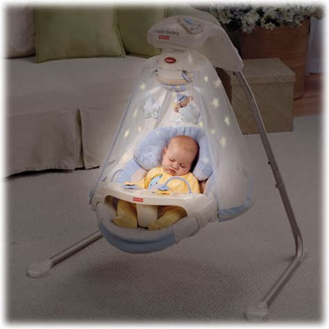 Which Baby Swings In by Fisher Price Papasan Cradle Swing Starlight