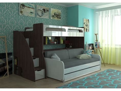 Bunk Bed Sofa Desk by Xl Bunk Bed With Sofa Desk And Trundle Bel