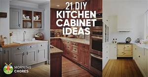 21 DIY Kitchen Cabinets Ideas & Plans That Are Easy