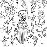 Cat Coloring Pages Printable Cats Colouring Mom Ages 30seconds Fect Purr Lovers Printables Tip Prints Macro Posterlounge Garden sketch template