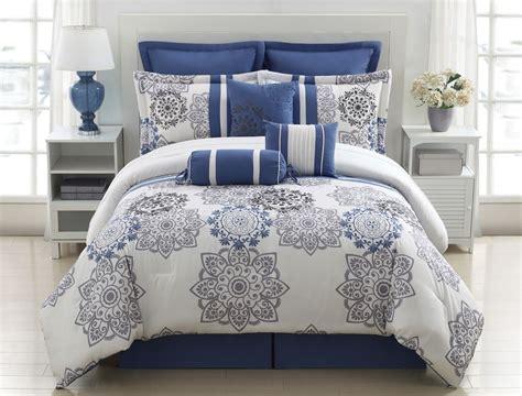 grey and blue comforter sets 9 kasbah blue and gray comforter set grey