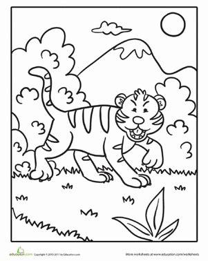 talking tiger coloring page preschool crafts color