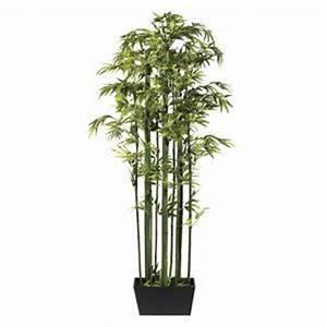 Arbuste D Intérieur : plante artificielle bambou dans une caisse en bois ~ Premium-room.com Idées de Décoration