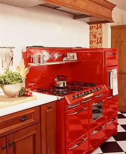 Unique Red Vintage Kitchen: The Reviving Style